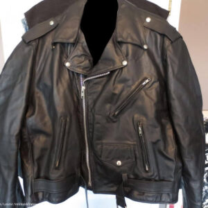 Biker Mice From Mars Black Leather Jacket
