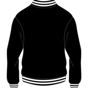 Custom Design Black Varsity Bomber Jacket