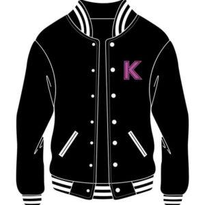 Custom K Letterman Bomber Varsity Jacket
