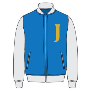 Custom Varsity Blue Bomber Jacket