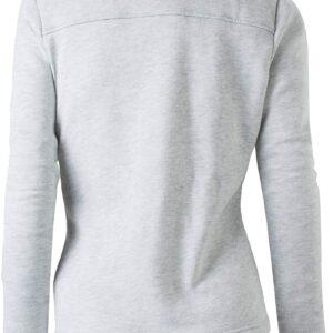 Grey Wool White Fur Women's Zip Up Jacket