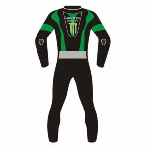 Kawasaki Ninja Black and Green Motorcycle Leather Suit