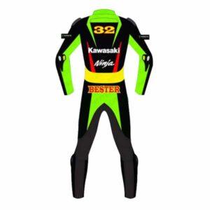 Kawasaki Ninja Motorcycle Racing Leather Suit