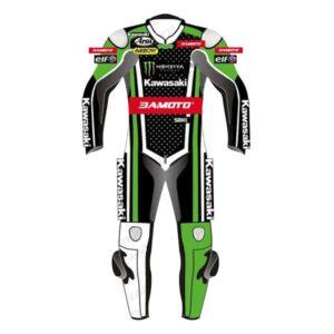 Kawasaki Racing Team Motorcycle Leather Suit