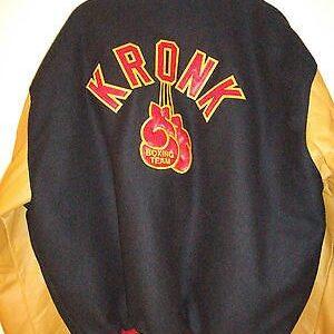 Kronk Boxing Leather Wool Varsity Jacket