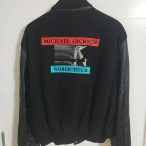Michael Jackson Bad World Tour Wool Leather Varsity Jacket