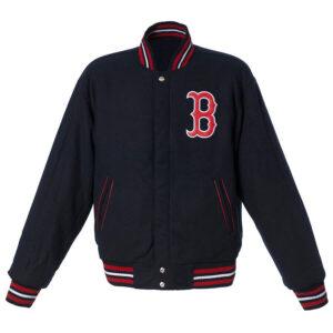 Navy Boston Red Sox Reversible Wool Jacket