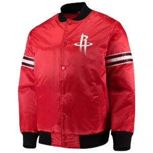 Red Houston Rockets The Draft Pick Varsity Satin Jacket