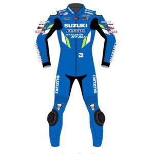 Suzuki Alex Rins MotoGP Motorcycle Leather Racing Suit