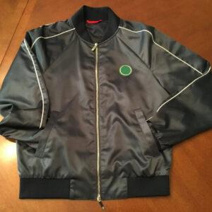 Grey Satin Bomber Jacket