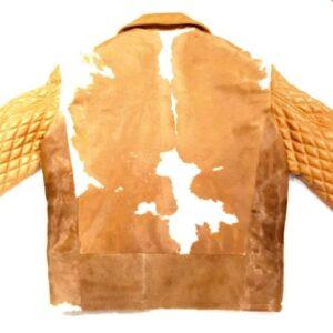 Brown Cowhide Genuine Quilted Leather Jacket
