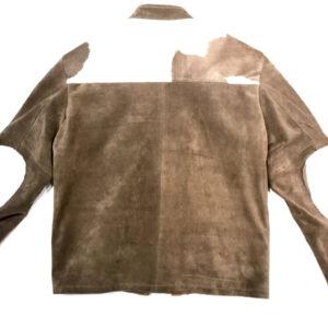 Brown Cowhide Genuine Suede Leather Bomber Jacket