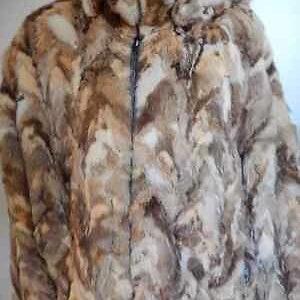 Brown Winter Genuine Sable Fur Jacket