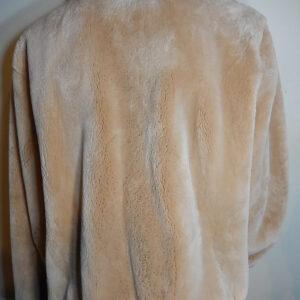 Crocodile and Sheared Beaver Fur Jacket