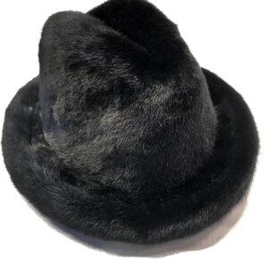 Men's Black Full Mink Fur Top Hat