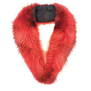 Red Rabbit Fur Wrap Collar