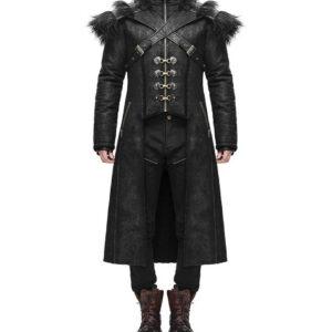 Black Armour Harness Goth Steampunk Winter Coat