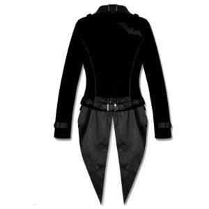 Black Goth Steampunk Tailcoat Victorian Coat