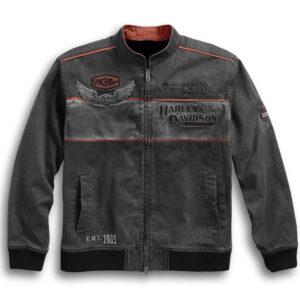 Black Harley Davidson Cotton Casual Jacket