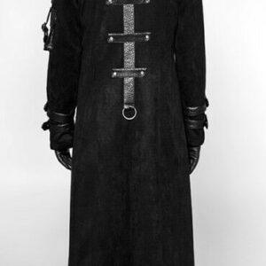 Black Hooded Steampunk Gothic Punk Rave Coat