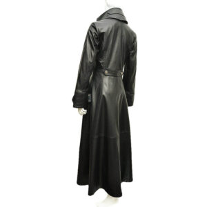 Black Steampunk Leather Victorian Gothic Coat