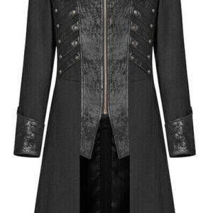 Black Steampunk Pirate Gothic Coat