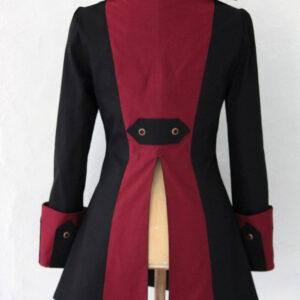 Black Steampunk Pirate Gothic Jacket