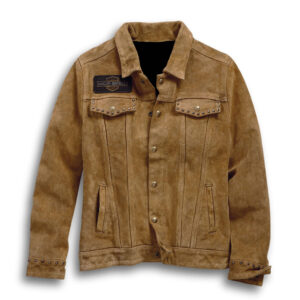 Brown Harley Davidson Suede Leather Jacket