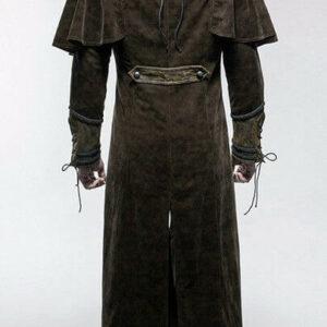 Brown Steampunk Pirate Warrior Gothic Dandy Coat
