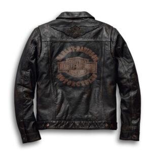 Harley Davidson Digger Black Leather Jacket