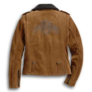 Harley Davidson Suede Biker Leather Jacket