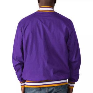 Purple LSU Tigers The Jet III Full Snap Jacket