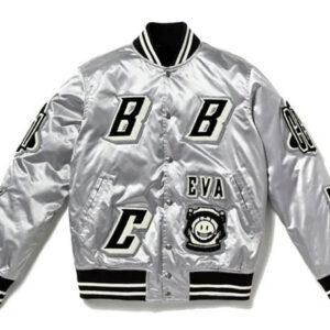 Billionaire Boys Club Silver Satin Jacket