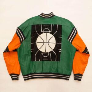 Orange Green Basketball Micheal Hoban Vintage Jacket