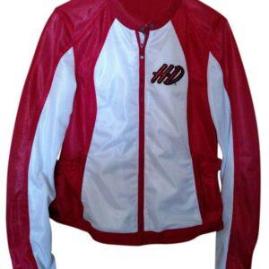 Harley Davidson White and Red Mesh Riding Jacket
