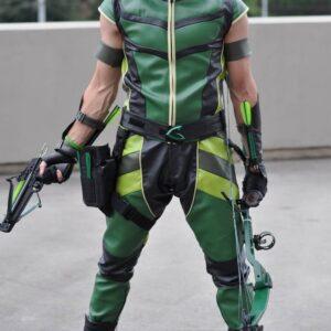 Smallville Green Arrow Justin Hartley Leather Costume