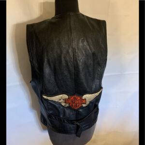 Harley Davidson Black Leather Vest