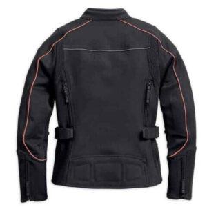 Black Harley Davidson Motorcycle Riding Jacket