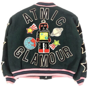 Black Hysteric Glamour Atomic Robot Varsity Jacket