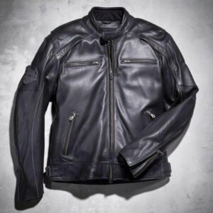 Harley Davidson Motorcycle Vintage Black Leather Jacket