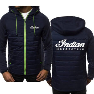 Indian Motorcycle Blue Spring Autumn Casual Jacket