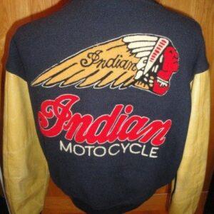 Vintage Indian Motorcycle Racing Varsity Jacket