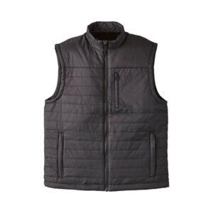 Black Indian Motorcycle Zip Up Vest