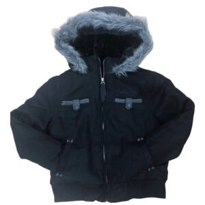 Black Pelle Pelle Hooded Wool Bomber Jacket