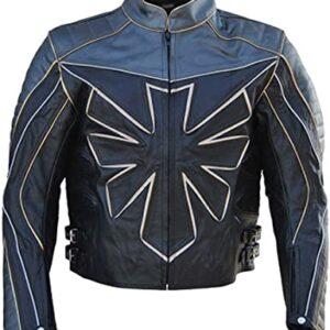 Black Triumph Motorcycle Leather Jacket