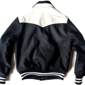 Black White Pony Boy Varsity Jacket
