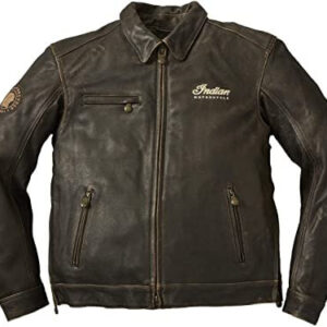 Brown Indian Motorcycle Leather Jacket