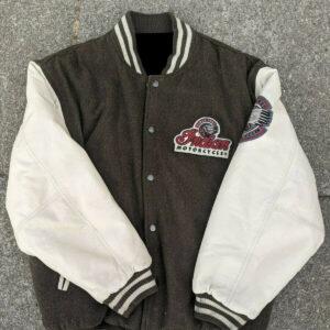 Brown Indian Motorcycle Varsity Jacket