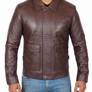 Brown Vintage Indiana Jones Leather Jacket