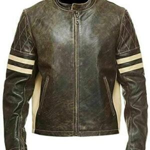 Cafe Racer Brown Leather Jacket